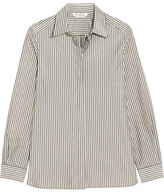 Max Mara Striped Crepe De Chine Shirt - Ivory