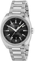 Gucci Men's Swiss Quartz Stainless Steel Dress Watch, Color:Silver-Toned (Model: YA142201)