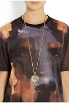 Givenchy Small medallion necklace in gold-tone metal