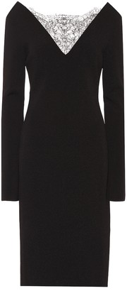 Givenchy Crepe midi dress with lace