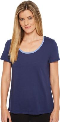 Jockey Women's Cotton Jersey Short Sleeve Top with Back Keyhole Detail