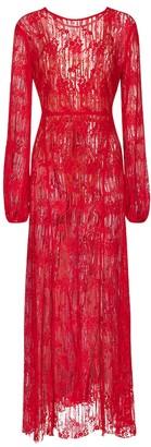 Rotate by Birger Christensen Lisa cotton-blend lace maxi dress