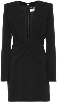 Saint Laurent Crepe minidress