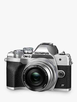 """Olympus OM-D E-M10 Mark IV Compact System Camera with 14-42mm EZ Lens, 4K Ultra HD, 20.3MP, Wi-Fi, Bluetooth, EVF, 3"""" LCD Tiltable Touch Screen"""