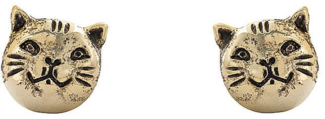 American Apparel Gold Plated Earring Pair - Cat