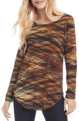 Karen Kane Printed Long-Sleeve Tunic Tee