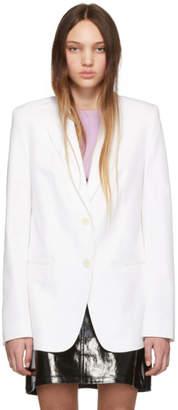 Helmut Lang White Fine Cotton Blazer
