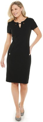 Chaps Women's Splitneck Sheath Dress