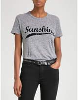 Zadig & Voltaire Walk Sunshine Mottled cotton-blend T-shirt