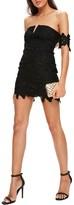 Missguided Women's Lace Bardot Minidress