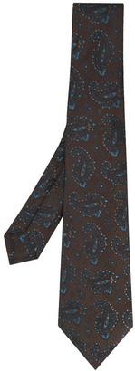 Kiton Paisley-Print Pointed Tie