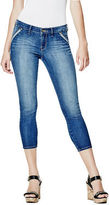 G by Guess GByGUESS Women's Donielle Reverse Denim Capris