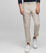 Reiss Reiss Westbury - Slim-fit Chinos In Brown