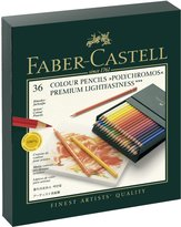 Faber-Castell Polychromos Colored Pencil Gift Box 36pc-Lightfast Colors