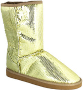 C Label Gold Sequin Cupcake Boot