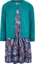 Monsoon Bluebell Dress and Cardigan