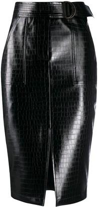 Liu Jo Patent Faux Leather Skirt