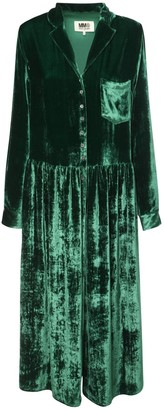 MM6 MAISON MARGIELA Velvet Midi Dress