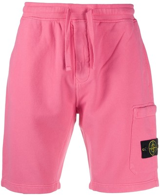 Stone Island Logo Patch Sweat Shorts