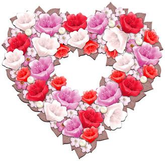 Designocracy Valentine Hart Wreath Door Hanger