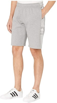 adidas Lock-Up Logo Long Shorts (Medium Grey Heather) Men's Shorts