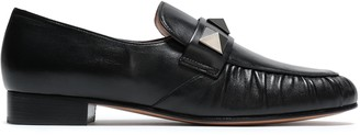 Valentino Studded Leather Loafers