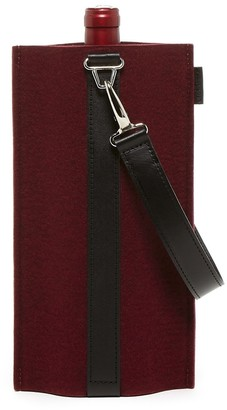 Graf Lantz Solo Wine Carrier Burgundy Felt