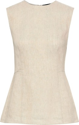 Theory Paneled Linen Top