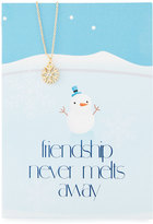 Lydell NYC Snowflake Necklace with Friendship Card