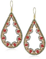 Miguel Ases Cherry 14k Gold Filled Tear Drop Earrings