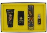 Christian Audigier Ed Hardy by Gift Set - 3.4 oz / 100 ml Eau DeToilette Spray + .25 oz Mni EDT Spray + 3 oz / 90 ml Shower Gel + 2.75 oz Deodorant Stick for Men