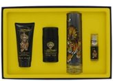 Christian Audigier Gift Set - 3.4 oz Eau De Toilette Spray + 3 oz Shower Gel + .25 oz Mini EDT + Keychain