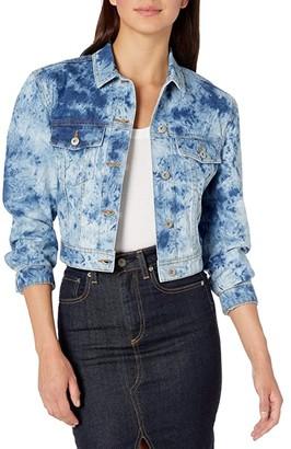 BB Dakota It's A Must Tie-Dye Denim Jacket (Medium Blue) Women's Clothing