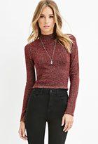 Forever 21 Contemporary Metallic Mock Neck Sweater