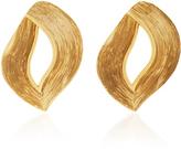 Oscar de la Renta Twisted Ribbon Gold-Tone Earrings