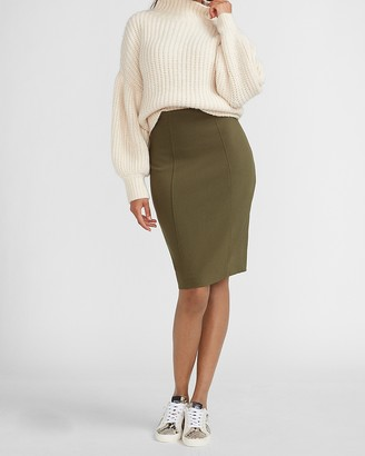 Express High Waisted Soft & Sleek Pencil Skirt