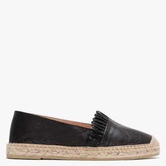 Kanna Warkworth Black Leather Espadrilles