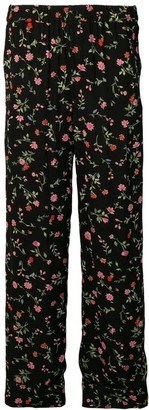 Ganni Floral Print Straight Trousers