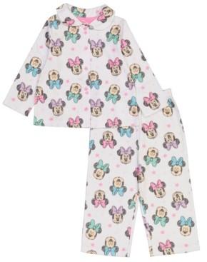 AME Minnie Mouse Toddler Girl Coat 2 Piece Pajama Set