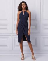 Le Château Knit Halter Neck Cocktail Dress