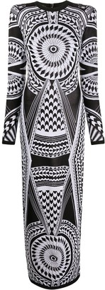 Balmain Graphic Print Dress