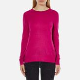 MICHAEL Michael Kors Women's Crew Neck Back Cutout Sweatshirt Geranium