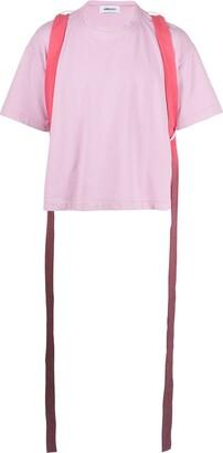 Ambush crew neck ombre strap T-shirt