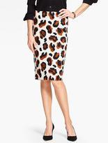 Talbots Abstract Animal-Print Pencil Skirt