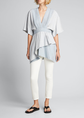 IRO Meral V-Neck Tiered Tunic Top