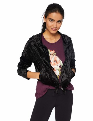 Betsey Johnson Women's Crushed Velvet Cropped Hoodie