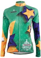 KMFEEL Athlete Cycling Competition Bicycle Women Jerseys Green Top (Small, Long Sleeve)