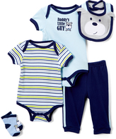 Buster Brown Blue 'Daddy's Little Guy' Five-Piece Layette Set - Infant