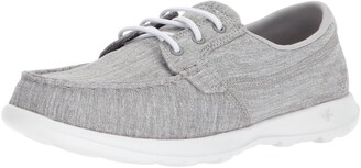 Skechers Performance Women's Go Walk Lite-15433 Wide Boat Shoe Gray 6 W US