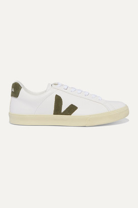 Veja + Net Sustain Esplar Leather And Suede Sneakers